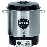 Weck WAT 24A Einkochautomat 1800 Watt mit Hahn, ohne Uhr, Edelstahl, 230 Watt