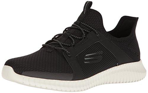 Skechers Elite Flex, Zapatillas sin Cordones para Hombre, Negro Black/White, 43 EU