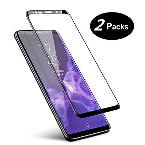 Samsung Galaxy S9 Displayschutzfolie, Glas, 2er-Packung, Samsung Galaxy S9 Schutzfolie, 3D Gebogene Vollabdeckung, gehärtetes Glas für Samsung Galaxy S9 (5,8 Zoll)