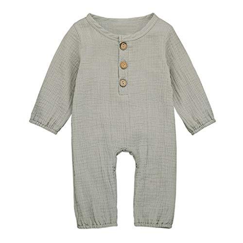 ung Neugeborene Säugling Baby Junge Mädchen Strampler Bettwäsche aus Baumwolle Einfarbig Overall Kleider Jumpsuit Outfits ()