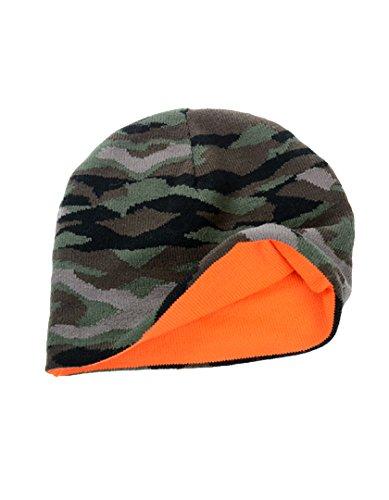 Atlantis Damen Herren Beanie Wild Wild Camouflage/Orange Fluo