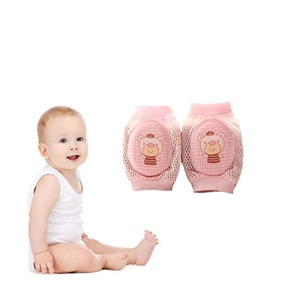 Rodilleras Del Bebé Bebé De Arrastre Ajustable Cojín Protector Transpirable Bebés Seguridad De Arrastre Del Codo Niños… 2