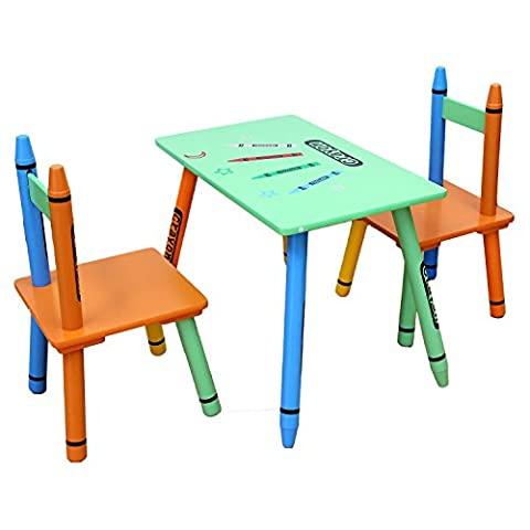 Bebe Style Childrens Wooden Table and Chair Set , Green