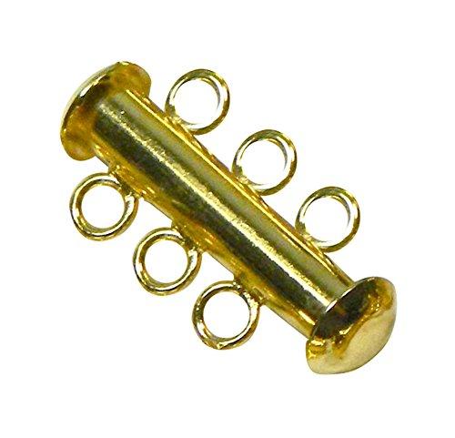 TOOGOO(R) 10 magnetische dreireihig lange Golden Schnalle Verbindung