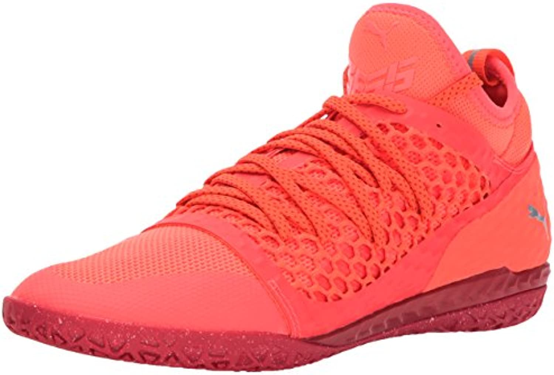 PUMA Men's 365 Ignite Netfit CT Soccer Shoe  Fiery Coral WhiteToreador  7 M US