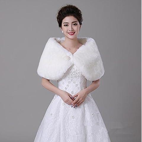 Inverno accessori nuziali del vestito caldo ed elegante coniglio dei capelli della sfera Wedding scialle cappotto