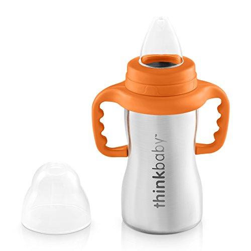 Thinkbaby Trinklernflasche, Schnabeltasse, Trinklerntasse, Trinkbecher aus Edelstahl – Schnabelbecher aus rostfreien Edelstahl für Kleinkinder – Kein BPA - 290ml (9oz)