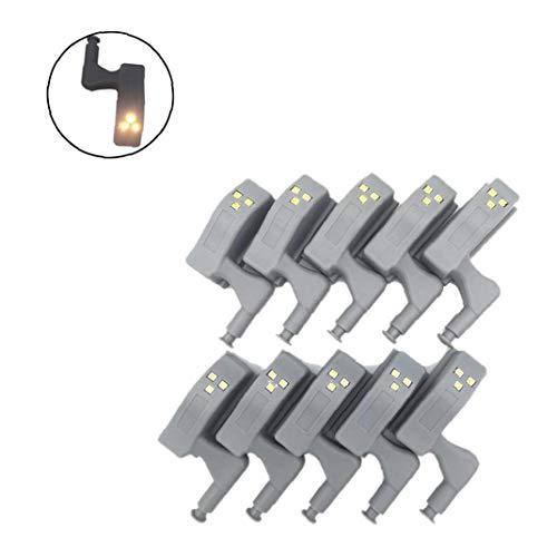 nier Licht Inner Hinge LED-Sensor-Licht Für Küche Schlafzimmer Wohnzimmer Schrank-Licht-Warmes Licht ()