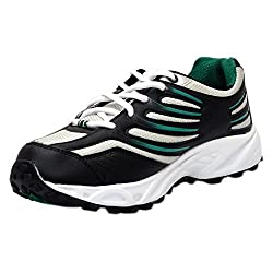 Sparx Mens Black and Green Running Shoes (SM-163) - UK 7