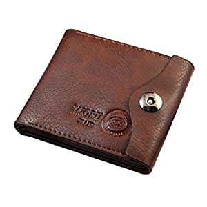 Imported Bifold Wallet Men's Leather Brown Credit/ID Card Holder Slim Purse Brown