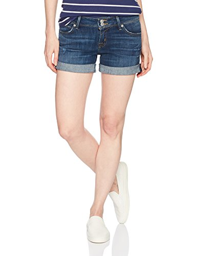 Hudson Jeans Women's Croxley Mid Thigh Flap Pocket Jean Short, Double-Deal, 25 Hudson Flare Jeans