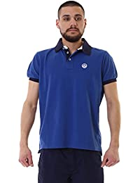North Sails Polo S/S W/Patch 0043, turquesa, Small