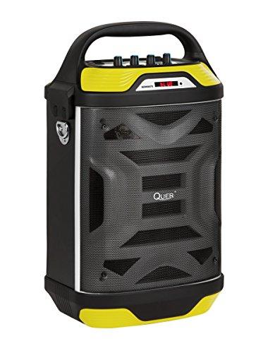 QUER KOM0875 Tragbares aktives Lautsprechersystem mit MP3, Bluetooth, FM Radio, Karaoke schwarz