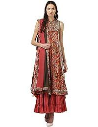 Ritu Kumar Women's A Line Synthetic Salwar Suit Set