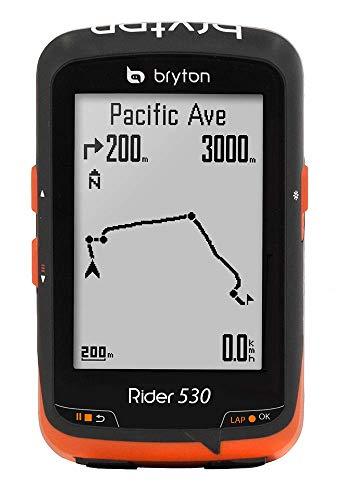 Bryton Rider 530C, Computer GPS mit Geschwindigkeitsmesser Unisex–Erwachsene, schwarz, M