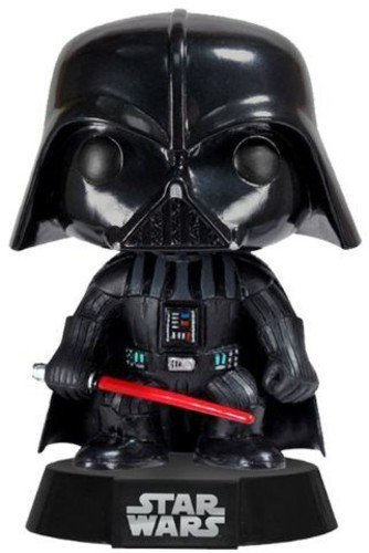 Funko- Darth Vader Figura de Vinilo, colección de Pop, seria Star Wars, Color Negro, Rojo (2300)