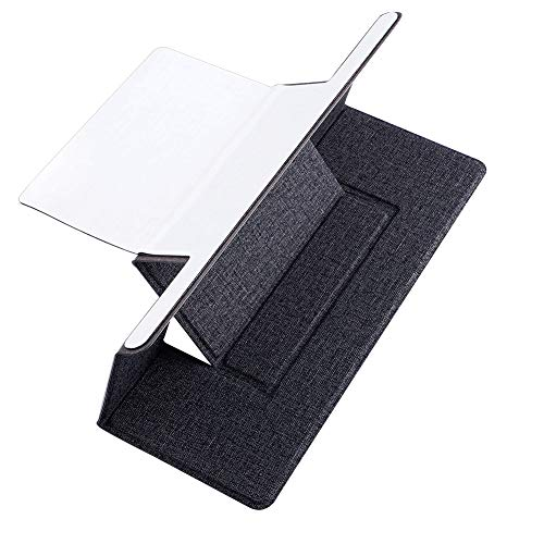 VKTY Portable Laptop Holder, Folding Laptop Holder Stand, Thin Light Weight Packet Laptop Holder for Business Trip Working Notebook Laptop Stand Riser - Stahl Light Stand