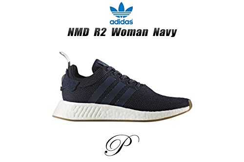 adidas Damen NMD_r2 W Low-Top, Weiß blau (Tinley/Azutra/Gridos)