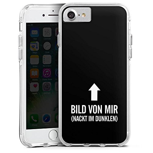 Apple iPhone 6 Bumper Hülle Bumper Case Glitzer Hülle Spruch Phrase Saying Bumper Case transparent