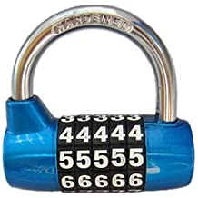 Lucchetto BaouRouge a 5 cifre con combinazione azzerabile 65 millimetri (Blu)
