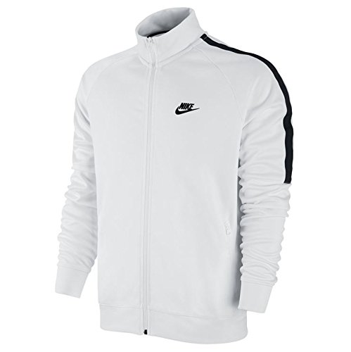 NIKE Herren Sweatshirt Tribute Track, White/Black, L, 678626-100