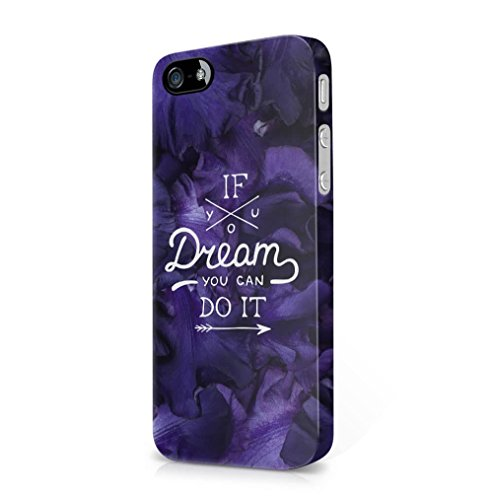 Lily Handy Snap (If You Dream You Can Do It Purple Flower Blossom Pattern Apple iPhone 5 / iPhone 5S / iPhone SE SnapOn Hard Plastic Phone Protective Fall Handyhülle Case Cover)