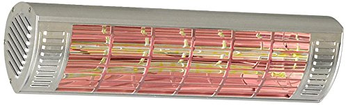 CasaTherm Infrarot Heizstrahler W2000 Gold LowGlare IP65, Silber, 2000 Watt