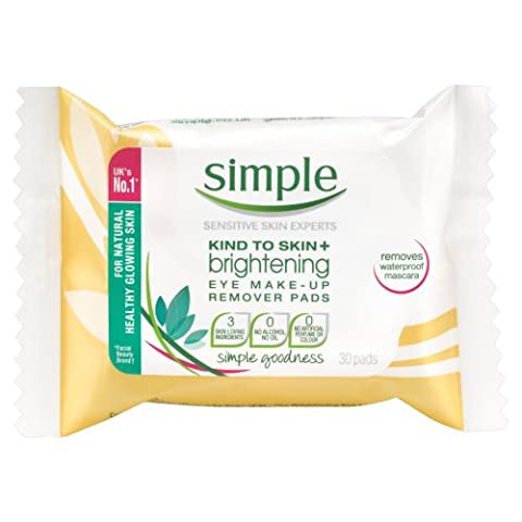 Simple Kind To Skin+ Radiance Brightening Eye Make-Up Remover Pads