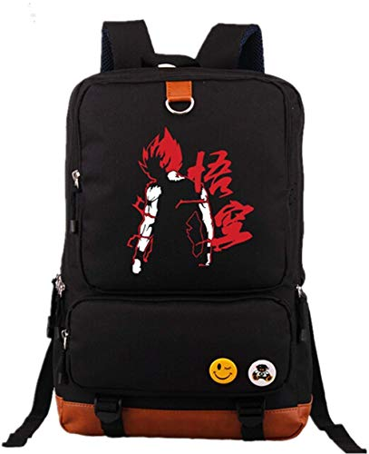 YHEGV Luminous Anime Dragon Ball Z Rucksack Cosplay Goku Daypack Bookbag Laptop Schultasche Umhängetasche