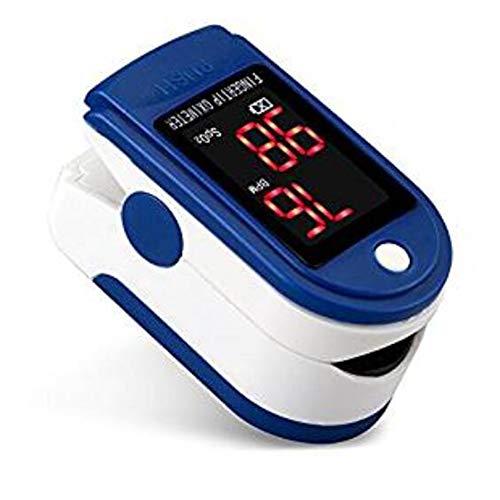 Oximetro Pulsoximeter Pulso De Dedo Fingertip Pulsoximeter Zwei Farbe Pulsioximetro LED Pulsmesser Pulsmesser,Blue -