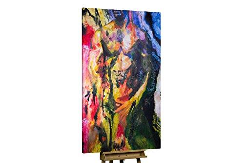 'Teile von mir' 120x180cm | Abstrakt Bunt Mann | Modernes Kunst Ölbild