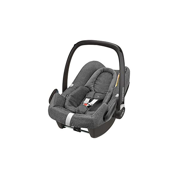 Maxi-Cosi Rock Baby Car Seat Group 0+, ISOFIX, i-Size Car Seat, Rearward-Facing, 0-12 m, 0-13 kg, Sparkling Grey Maxi-Cosi Baby car seat, suitable from birth to 13 kg (birth to 12 months) Enhanced safety: This Maxi-Cosi car seat complies with the i-Size (R129) car seat legislation Baby-hug inlay of this Maxi-Cosi i-Size car seat offers a better fit and laying position for newborns 1