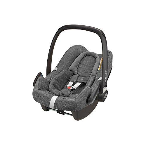 Maxi-Cosi Rock Babyschale, sicherer i-Size Kindersitz, Gruppe 0+ (0-13 kg), nutzbar ab der Geburt bis 12 Monate, Sparkling Grey