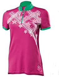 Mujer Camiseta de bicicleta (Talla M 40/42Color: Rosa Detalles reflectantes para una mejor visibilidad