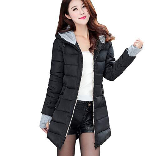 (PAOLIAN Damen Mantel Winterjacke,Frauen Wintermantel Parka Jacke Winter Warm Daunenmantel mit Kapuze Mantel Outwear)