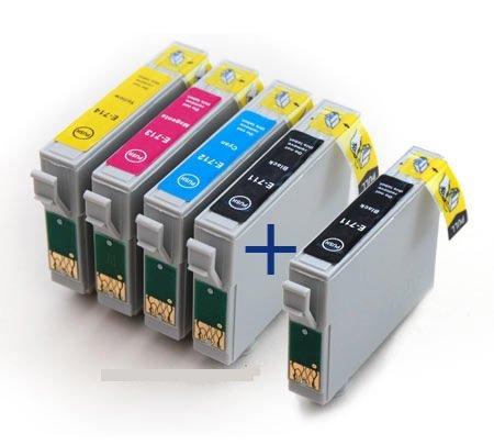 UCI 5x T0715 (T0711, T0712, T0713, T0714) Cartouches d'encre compatible avec Epson Stylus & Stylus Office Imprimantes