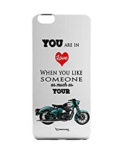 PosterGuy Royal Enfield Love (White) Typography iPhone 6 Case