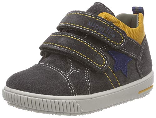 Superfit Baby Jungen Moppy Sneaker, Grau (Grau/Gelb 20), 24 EU