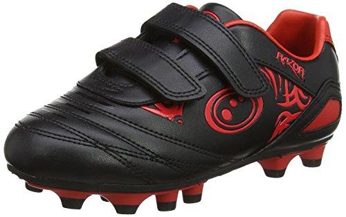 OPTIMUM Jungen Razor Fußballschuhe, Rot (Black/red), 26 EU
