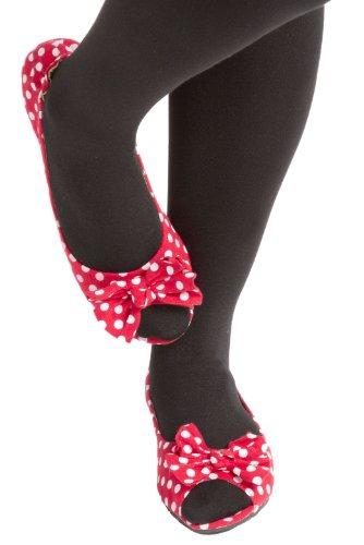 1 paire de dames Rollasole Deluxe Plage Dotty pour vous Pois rouges Chaussures Rouge