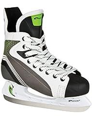 SPOKEY® AVALANCHA Patines de hockey sobre hielo | 40-47 | Cuchillas de hockey sobre hielo | Acero inoxidable | Ergonómico | Tapa delantera reforzado, Color:blanco;Spokey Größen:43