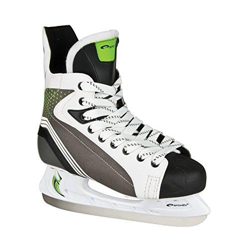 SPOKEY® AVALANCHE Eishockeyschlittschuhe | Schlittschuhe | 40-47 | Eishockeykufen | Edelstahl | Ergomisch | Verstärkte Kappe