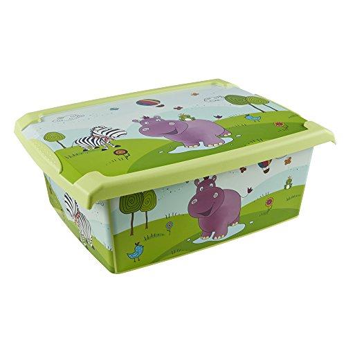keeeper Hippo Aufbewahrungsbox mit Deckel, 39 x 29 x 14 cm, 10 l, Filip, Grün