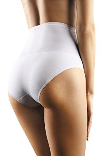 BL073 - MOLTICO | Unterwäsche Damen | Spitzenunterwäsche | Frauen Dessous | Schöne Lingerie | Unterhose Reizwäsche Hochzeitsdessous Baumwolle Baumwollmischung Slip Panty Tanga String Weiß