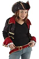 WMU 552998 Lady Buccaneer Hat with Lace and Satin Ribbons - Black