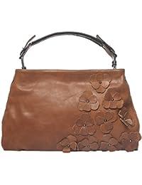 Mamatayoe Nox, Bolso de Mano para Mujer, Marrón (Leather), 2x40x40 cm (W x H x L)
