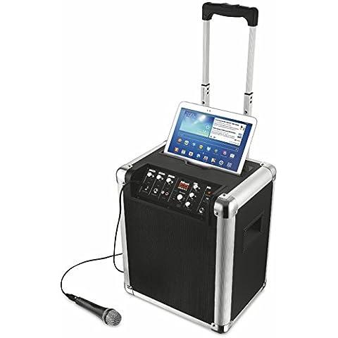 Trust Urban Fiesta Pro - Altavoz/amplificador inalámbrico con Bluetooth y micrófono, 60 W RMS,