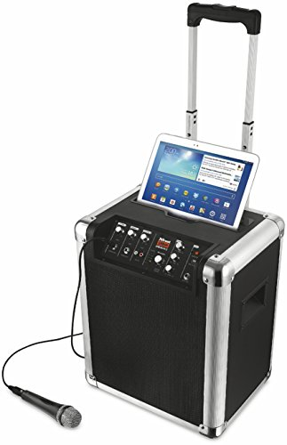 Trust Urban Fiesta Pro - Altavoz/amplificador inalámbrico con Bluetooth y micrófono, 60 W RMS, negro