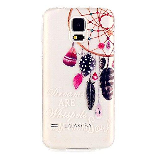 KSHOP Per Samsung Galaxy S5 Mini Custodia Conchiglia fit ultra sottile Silicone Morbido Flessibile TPU Custodia Case Cover Protettivo Skin Caso modello - Campanula