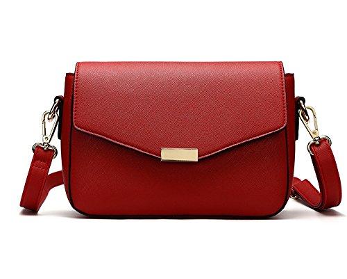 Pacchetto moda estiva, versione coreana dello zaino obliquo selvaggio, borsa a tracolla semplice, mini borsa femminile ( Colore : Verde ) Rosso